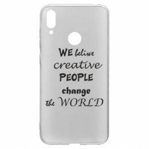 Etui na Huawei Y7 2019 We beliwe creative people