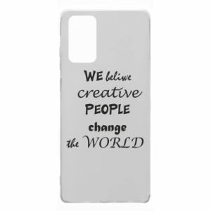 Etui na Samsung Note 20 We beliwe creative people