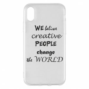 Etui na iPhone X/Xs We beliwe creative people