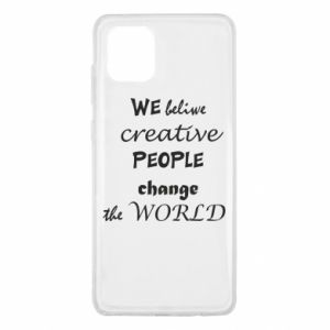 Etui na Samsung Note 10 Lite We beliwe creative people