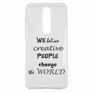 Etui na Nokia 5.1 Plus We beliwe creative people