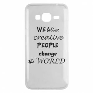 Etui na Samsung J3 2016 We beliwe creative people