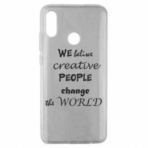 Etui na Huawei Honor 10 Lite We beliwe creative people