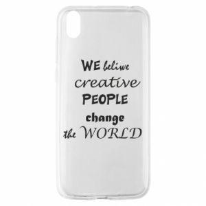 Etui na Huawei Y5 2019 We beliwe creative people
