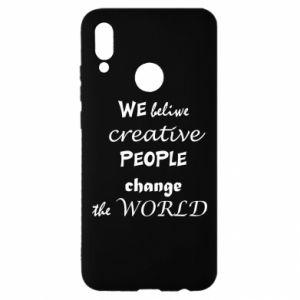 Etui na Huawei P Smart 2019 We beliwe creative people