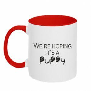 Kubek dwukolorowy We're hoping it's a puppy