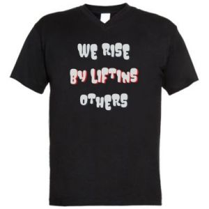 Męska koszulka V-neck We rise by liftins others