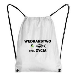 Plecak-worek Wędkarstwo to styl życia