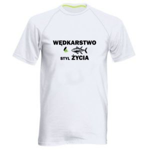 Męska koszulka sportowa Wędkarstwo to styl życia