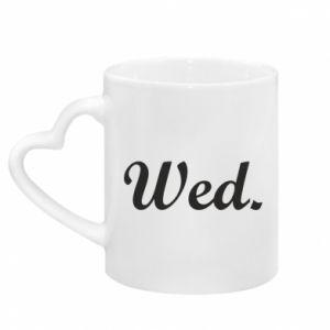 Kubek z uchwytem w kształcie serca Wednesday