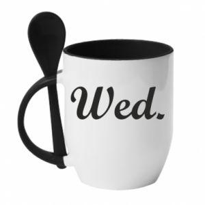 Kubek z ceramiczną łyżeczką Wednesday