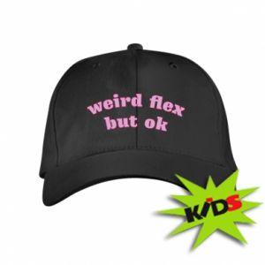 Dziecięca czapeczka z daszkiem Weird flex but ok