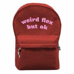 Plecak z przednią kieszenią Weird flex but ok