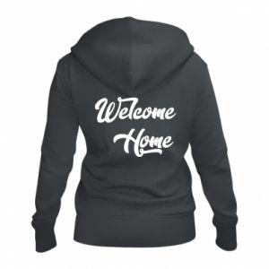 Damska bluza na zamek Welcome home