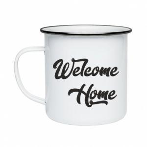 Kubek emaliowane Welcome home