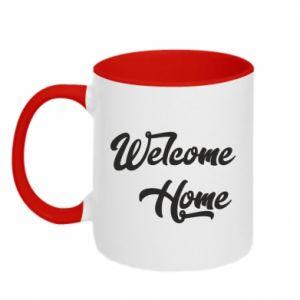 Kubek dwukolorowy Welcome home
