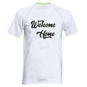 Męska koszulka sportowa Welcome home