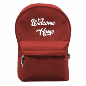 Plecak z przednią kieszenią Welcome home