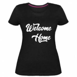 Damska premium koszulka Welcome home
