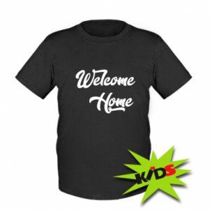 Dziecięcy T-shirt Welcome home