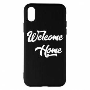 Etui na iPhone X/Xs Welcome home