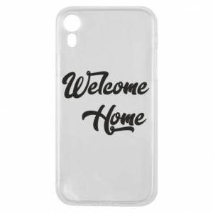 Etui na iPhone XR Welcome home