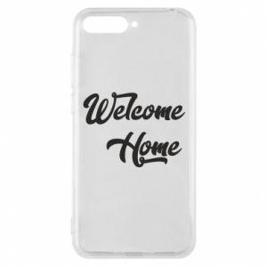 Etui na Huawei Y6 2018 Welcome home