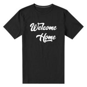 Męska premium koszulka Welcome home