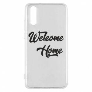 Etui na Huawei P20 Welcome home