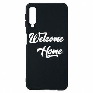 Etui na Samsung A7 2018 Welcome home