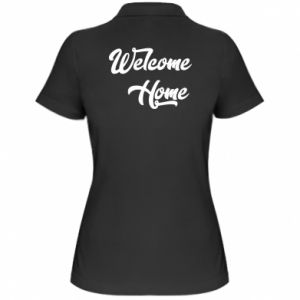 Damska koszulka polo Welcome home