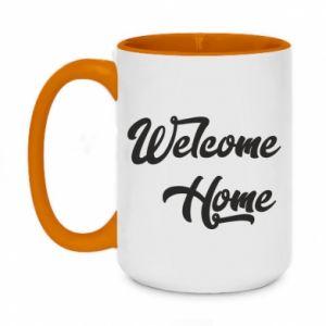 Kubek dwukolorowy 450ml Welcome home