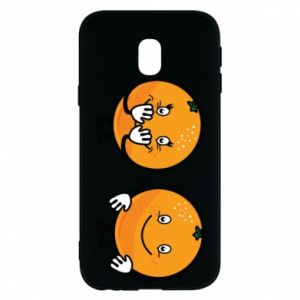 Phone case for Samsung J3 2017 Cheerful Oranges - PrintSalon