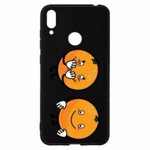 Etui na Huawei Y7 2019 Wesołe pomarańcze