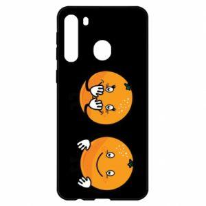Etui na Samsung A21 Wesołe pomarańcze