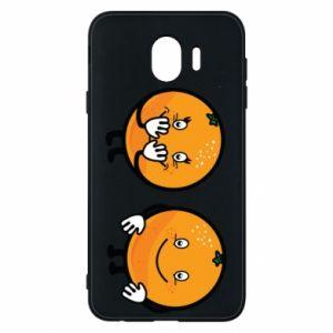 Etui na Samsung J4 Wesołe pomarańcze