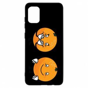 Etui na Samsung A31 Wesołe pomarańcze