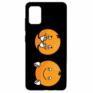 Etui na Samsung A51 Wesołe pomarańcze