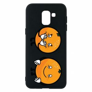 Phone case for Samsung J6 Cheerful Oranges - PrintSalon