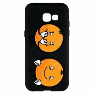 Etui na Samsung A5 2017 Wesołe pomarańcze