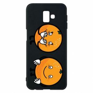 Etui na Samsung J6 Plus 2018 Wesołe pomarańcze