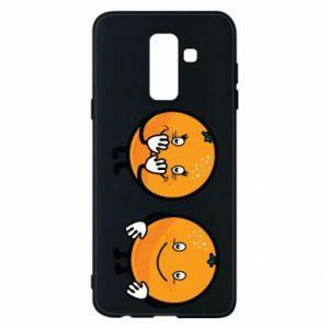 Etui na Samsung A6+ 2018 Wesołe pomarańcze