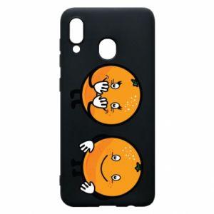 Etui na Samsung A20 Wesołe pomarańcze