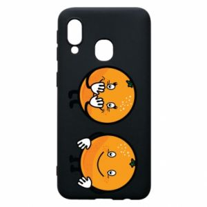 Etui na Samsung A40 Wesołe pomarańcze