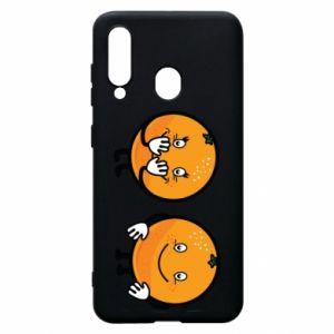 Etui na Samsung A60 Wesołe pomarańcze
