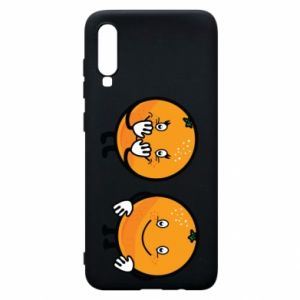 Etui na Samsung A70 Wesołe pomarańcze