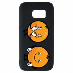 Phone case for Samsung S7 Cheerful Oranges - PrintSalon
