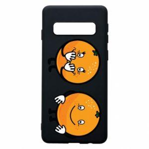 Etui na Samsung S10 Wesołe pomarańcze