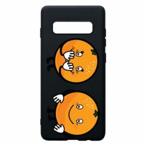 Phone case for Samsung S10+ Cheerful Oranges - PrintSalon