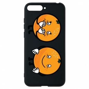 Phone case for Huawei Y6 2018 Cheerful Oranges - PrintSalon